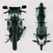 Suzuki GSR-R 125 - Visão Traseira e Superior