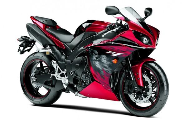 Yamaha YZF-R1 2012 Vermelha Direita
