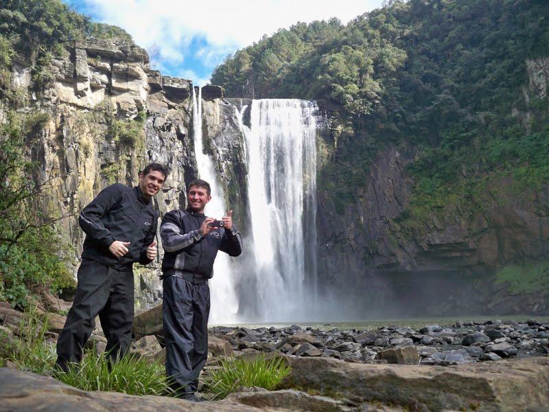 Thobias e Gregory no Salto Barão do Rio Branco - Prudentópolis/PR