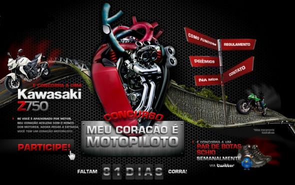 Promoção coração moto piloto