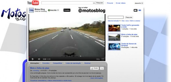 Canal do Motos Blog no Youtube