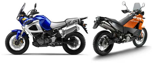 Yamaha Super Tenere 1200 e KTM Adventure 990