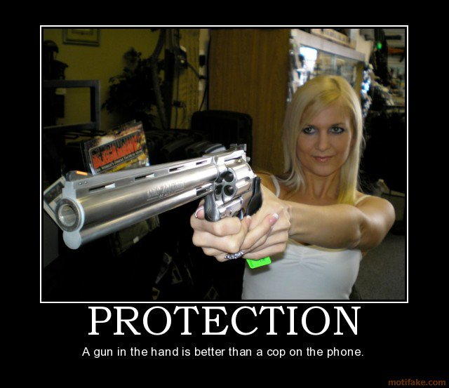 Proteção - Uma arma na mão é melhor do que um policial no telefone