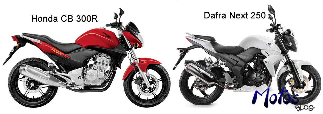 Concorrentes Honda CB300 e Dafra Next 250