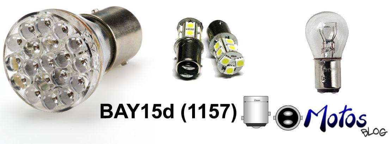 Exemplos de lâmpadas com soquete BAY15d
