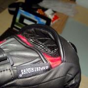 Luvas X11 Racer - Sob o protetor