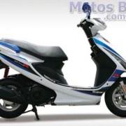 Suzuki Burgman 125ie 2011 Branco e Azul de lado