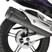 Escapamento da Yamaha YS250 Fazer 2012 Roxa