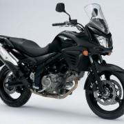 Suzuki DL-650 V-Strom Preta perfil Direita