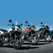 Três cores da Suzuki DL-650 V-Strom