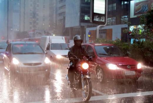 Chuva em São Paulo (Foto: Paulo Guilherme/G1)